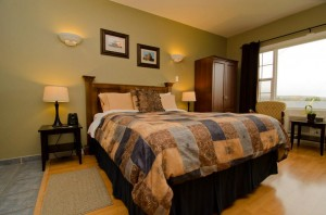 Book a room in beautiful Antigonish at the Evergreen Inn and relax for the night in a queen bed complete with fireplace and TV/DVD combo.